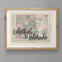 Load image into Gallery viewer, Vintage Colorado State Map Print