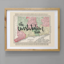 Load image into Gallery viewer, Vintage Connecticut State Map Print