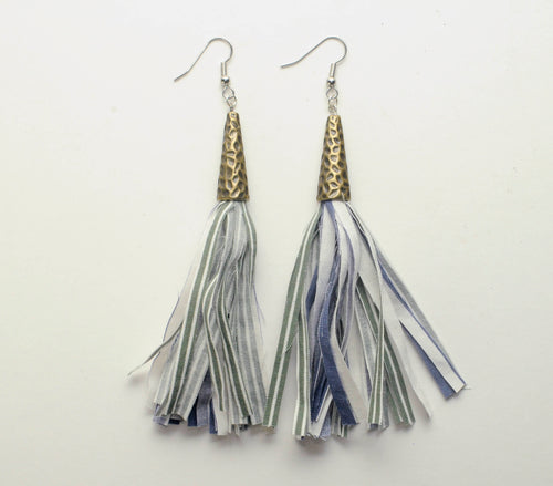 Fabric Dangle Earrings - Large