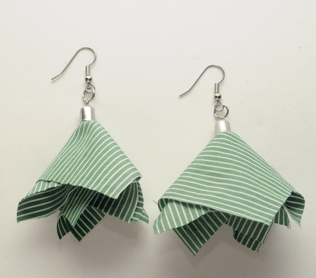 Fabric Dangle Earrings - Medium