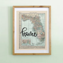 Load image into Gallery viewer, Vintage Florida State Map Print