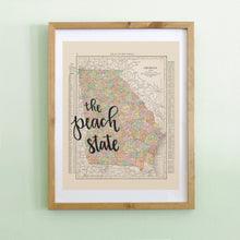 Load image into Gallery viewer, Vintage Georgia State Map Print