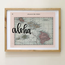 Load image into Gallery viewer, Vintage Hawaii State Map Print