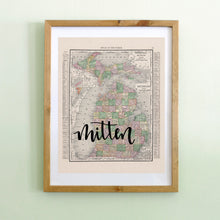 Load image into Gallery viewer, Vintage Michigan State Map Print