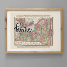 Load image into Gallery viewer, Vintage New York State Map Print