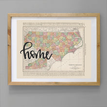 Load image into Gallery viewer, Vintage North Carolina State Map Print