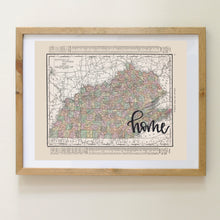 Load image into Gallery viewer, Vintage Tennessee State Map Print