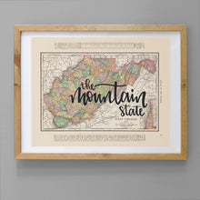 Load image into Gallery viewer, Vintage West Virginia State Map Print