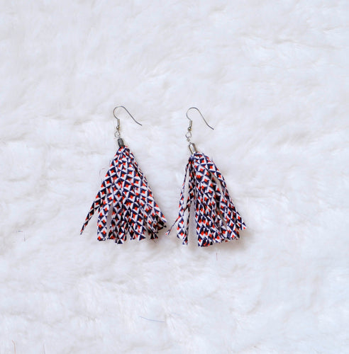 Fabric Dangle Earrings - Small