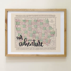 graphic about Printable Map of Iowa known as Typical Iowa Place Map Print