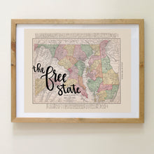 Load image into Gallery viewer, Vintage Maryland State Map Print