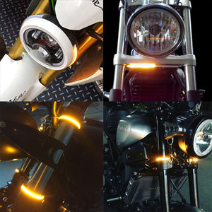 40% OFF TODAY!!! Fork Mount LED Turn Signals ,Double color transformation