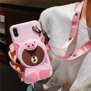 【Hot Sale Today! Up to 50% Discount!】Cartoon Storage Phone Case For iPhone