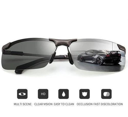 Photochromic Polarized Sunglasses-Driving Fishing Outdoors