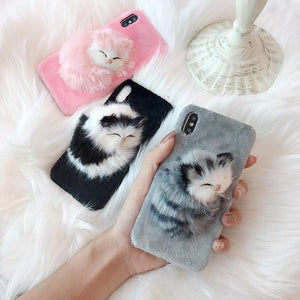 3D Kitten Cute iPhone Case