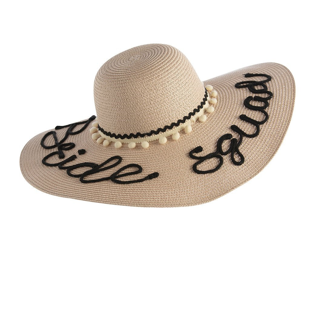 BRIDE SQUAD SUN HAT,BLUSH