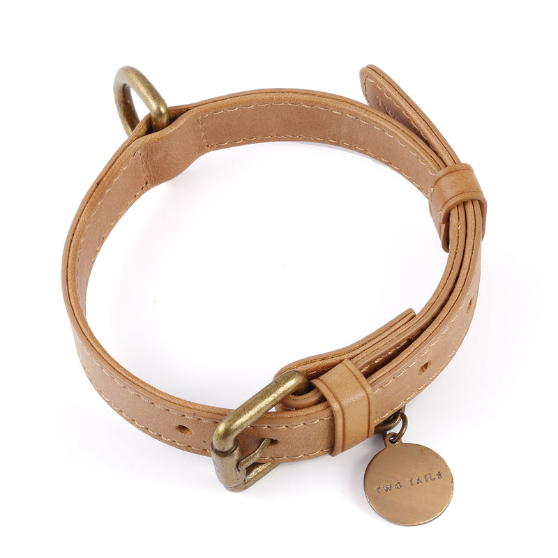 Leather Collar - Tan/Brown