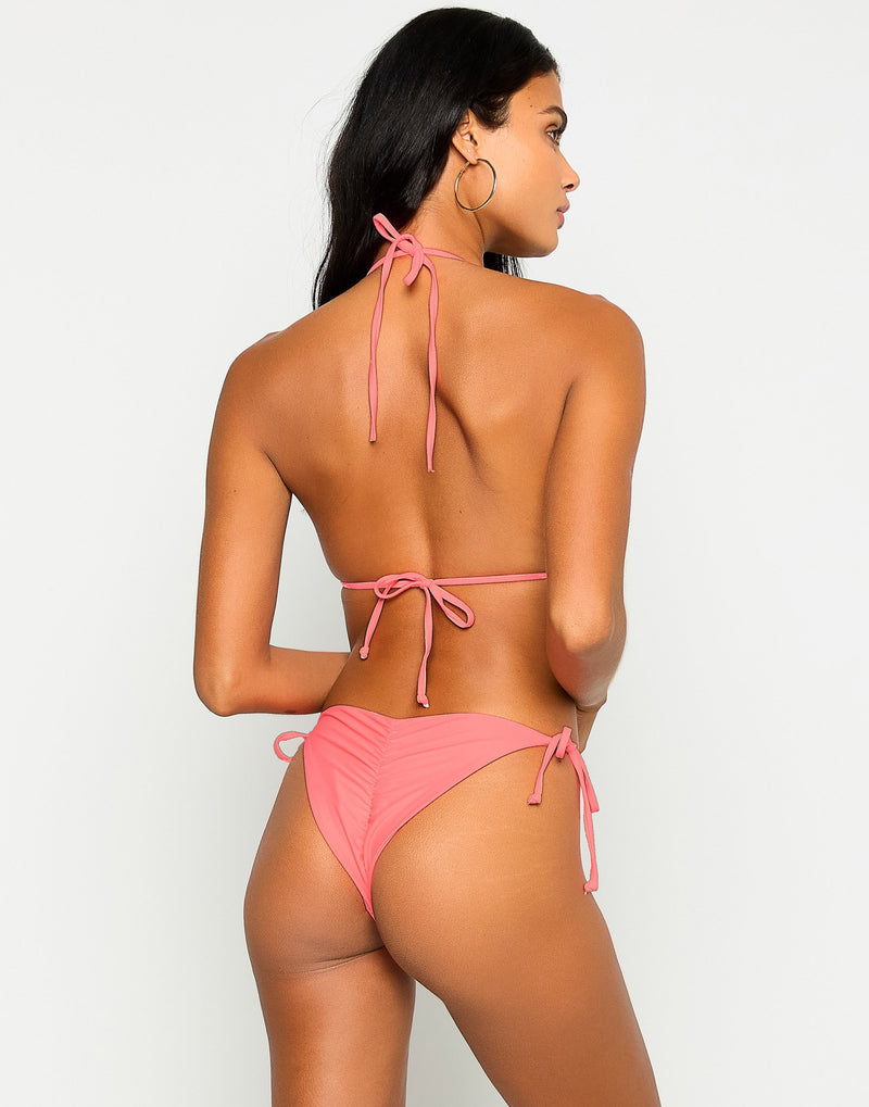 Paisley Triangle Bikini Top in New Origami with Gold Hardware - Back View