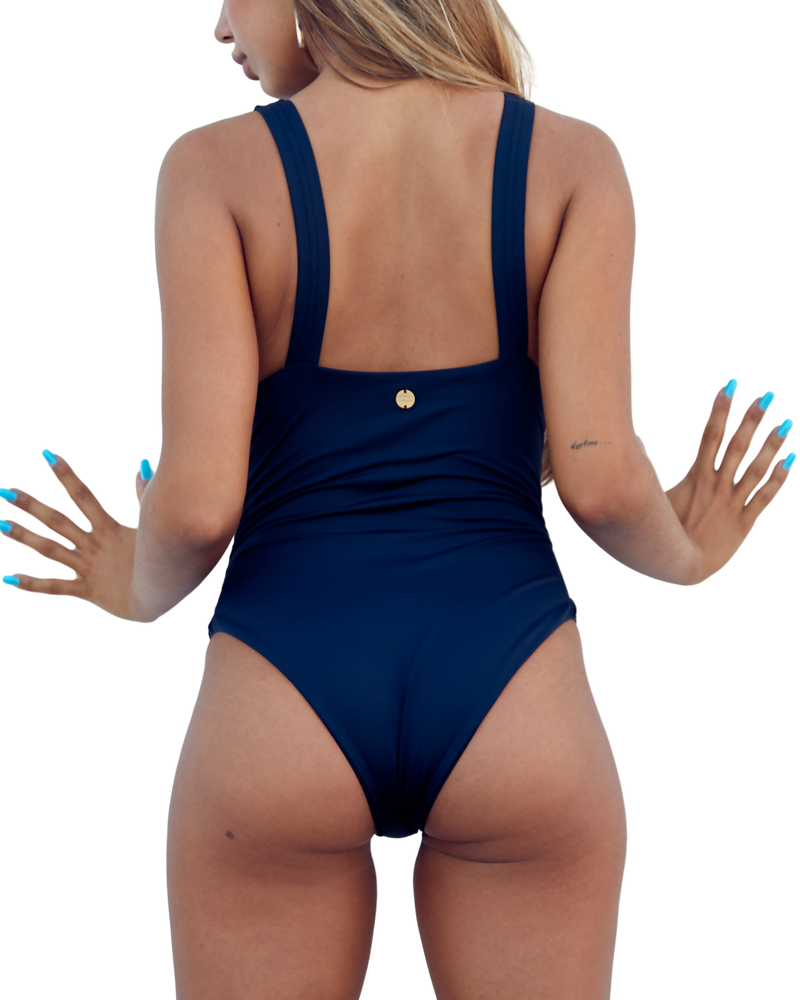 Supportive Black One Piece