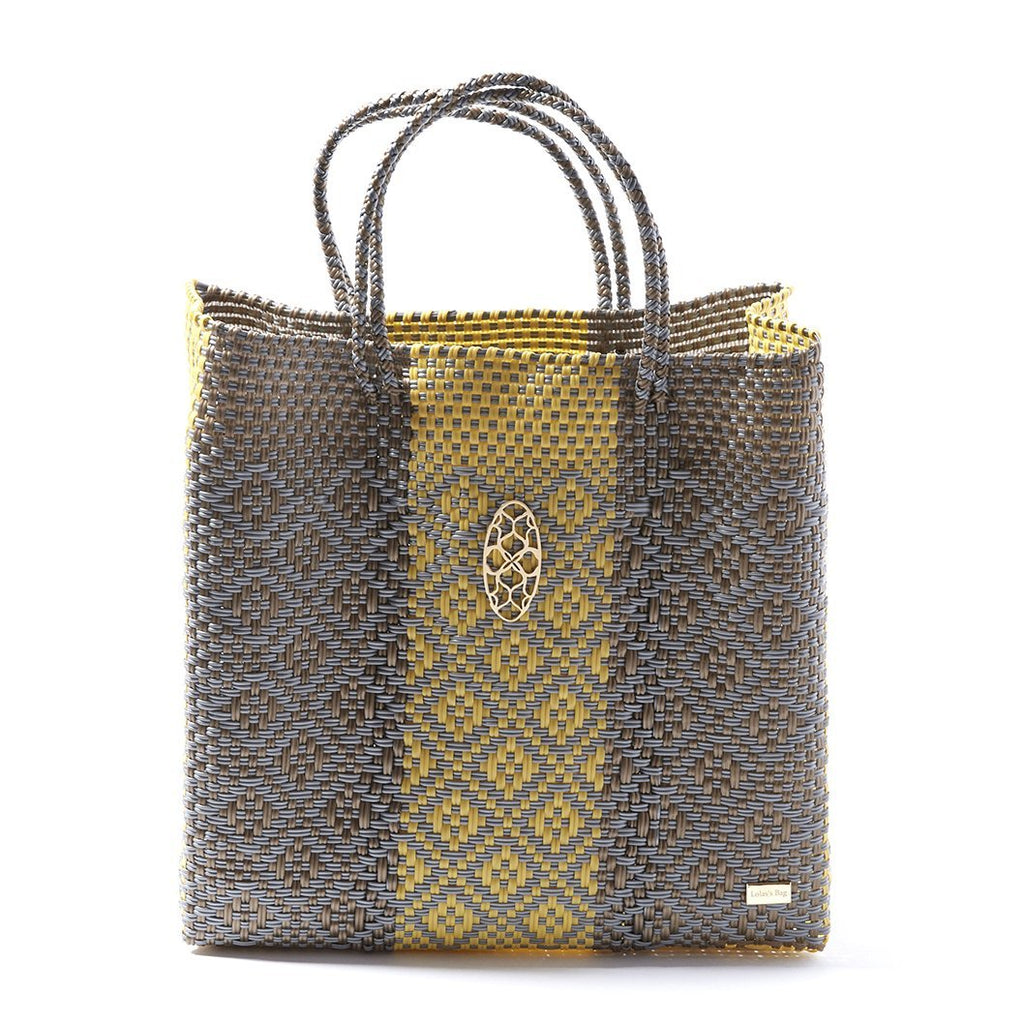 MEDIUM GRAY AZTEC TOTE BAG