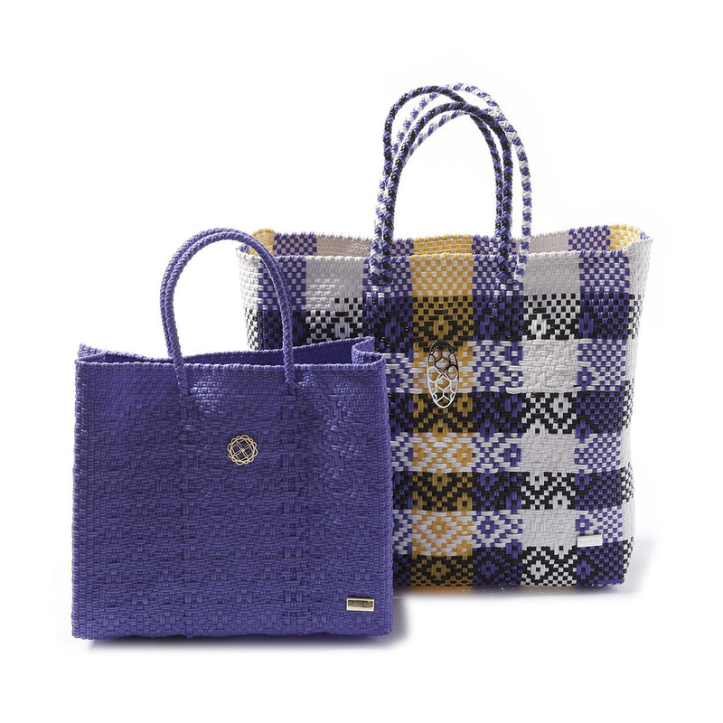 SMALL PURPLE TOTE BAG