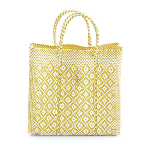 MEDIUM YELLOW AZTEC TOTE BAG