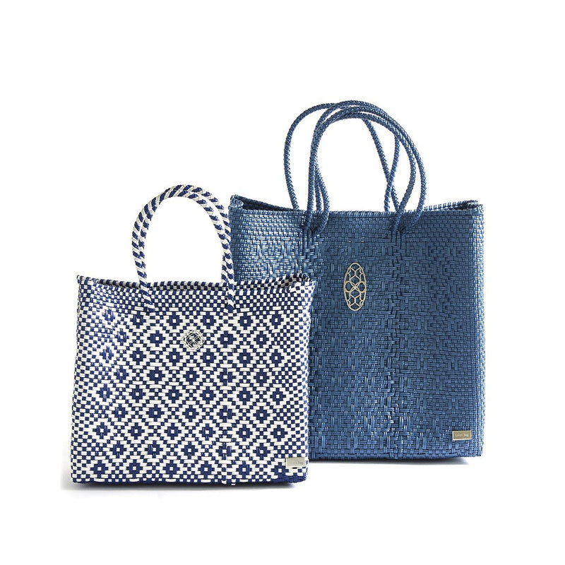 MEDIUM BLUE TOTE BAG