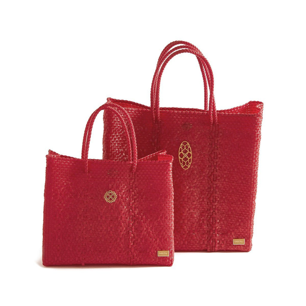 MEDIUM RED TOTE BAG