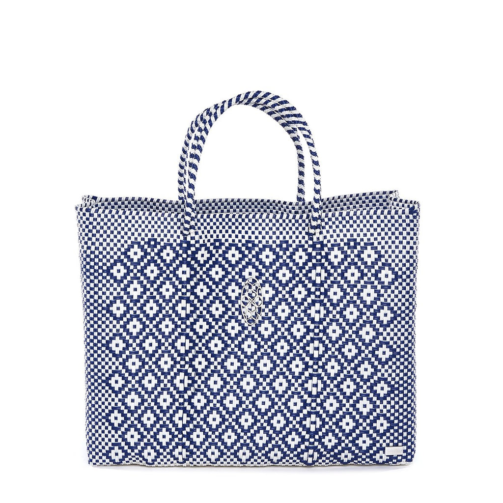 BLUE BOOK TOTE BAG AND CLUTCH