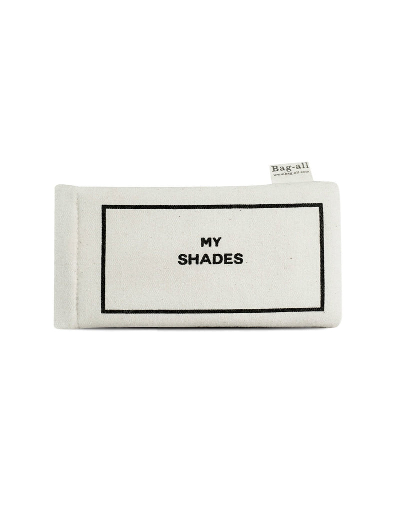 Bag-all's My Shades Case in White - Product Front View