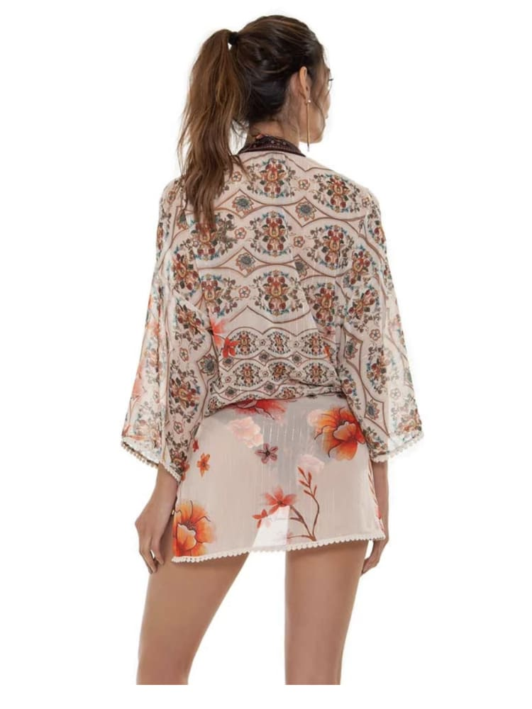 Agua Bendita Juana Cocoa Tunic - COVER UP