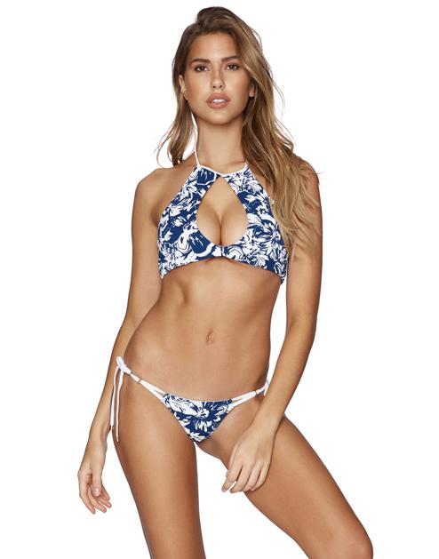 Bunny Basics High Neck Halter - Blue Floral