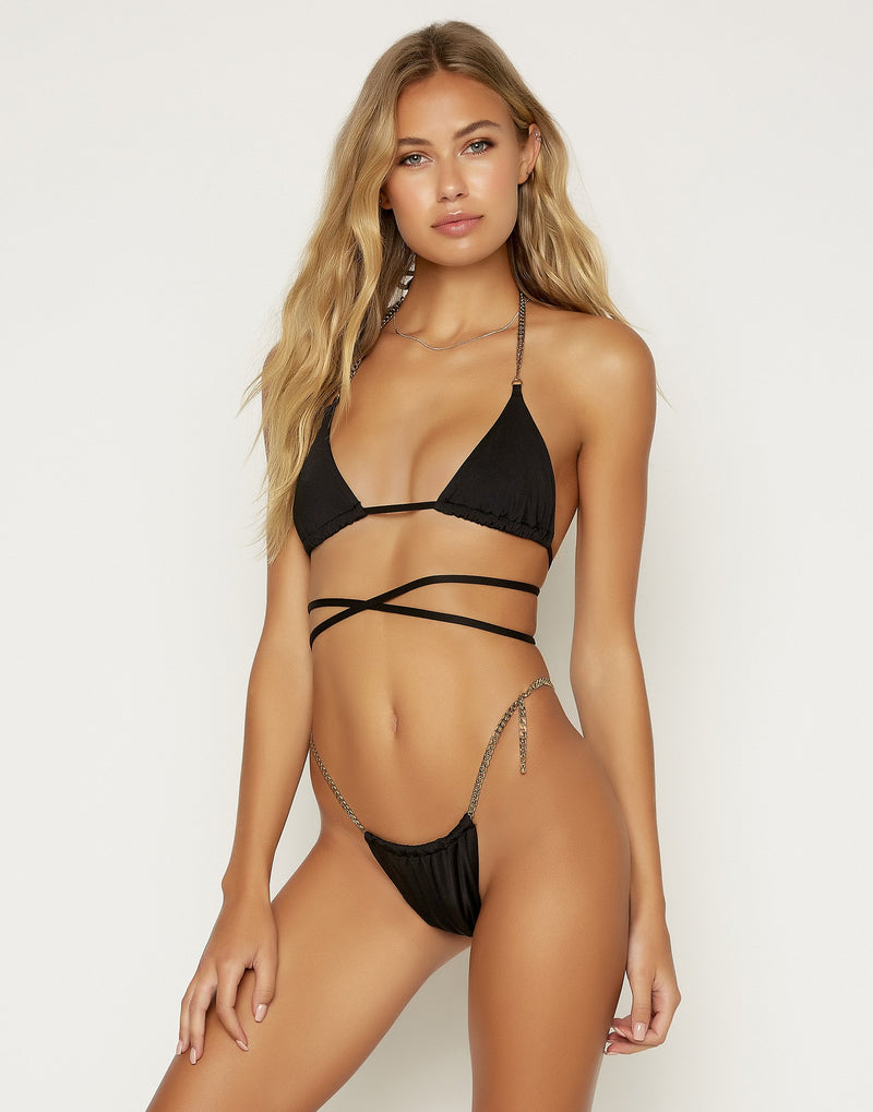 Brooklyn Triangle Top - Black