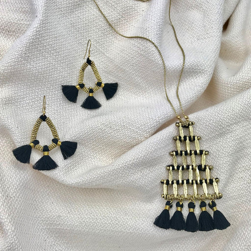 Nira Fringe Earrings
