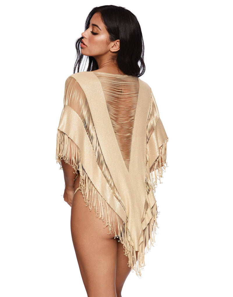 Indian Summer Poncho - Gold