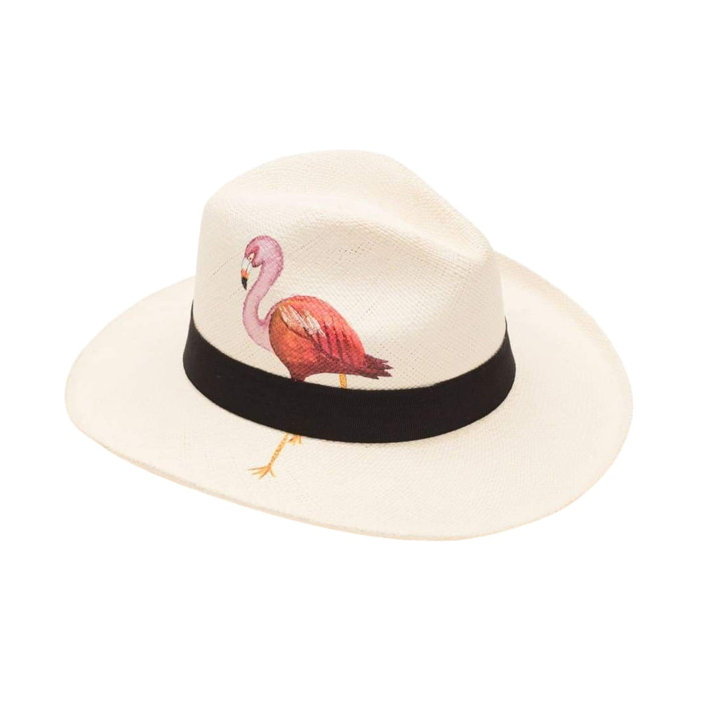 Isla+mar Hand Painted Flamingo - HATS
