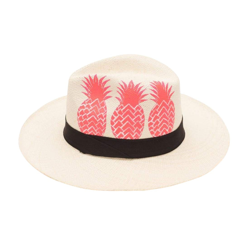 Isla+mar Hand Painted Pink Pineapple - HATS
