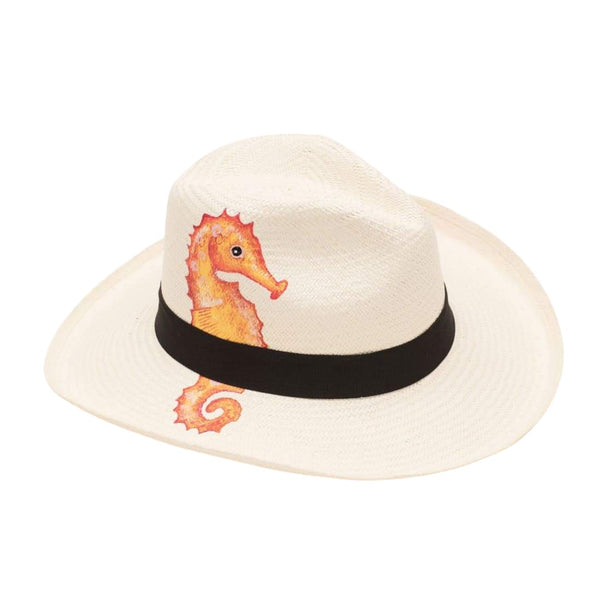 Isla+mar Hand Painted Sea Horse - HATS