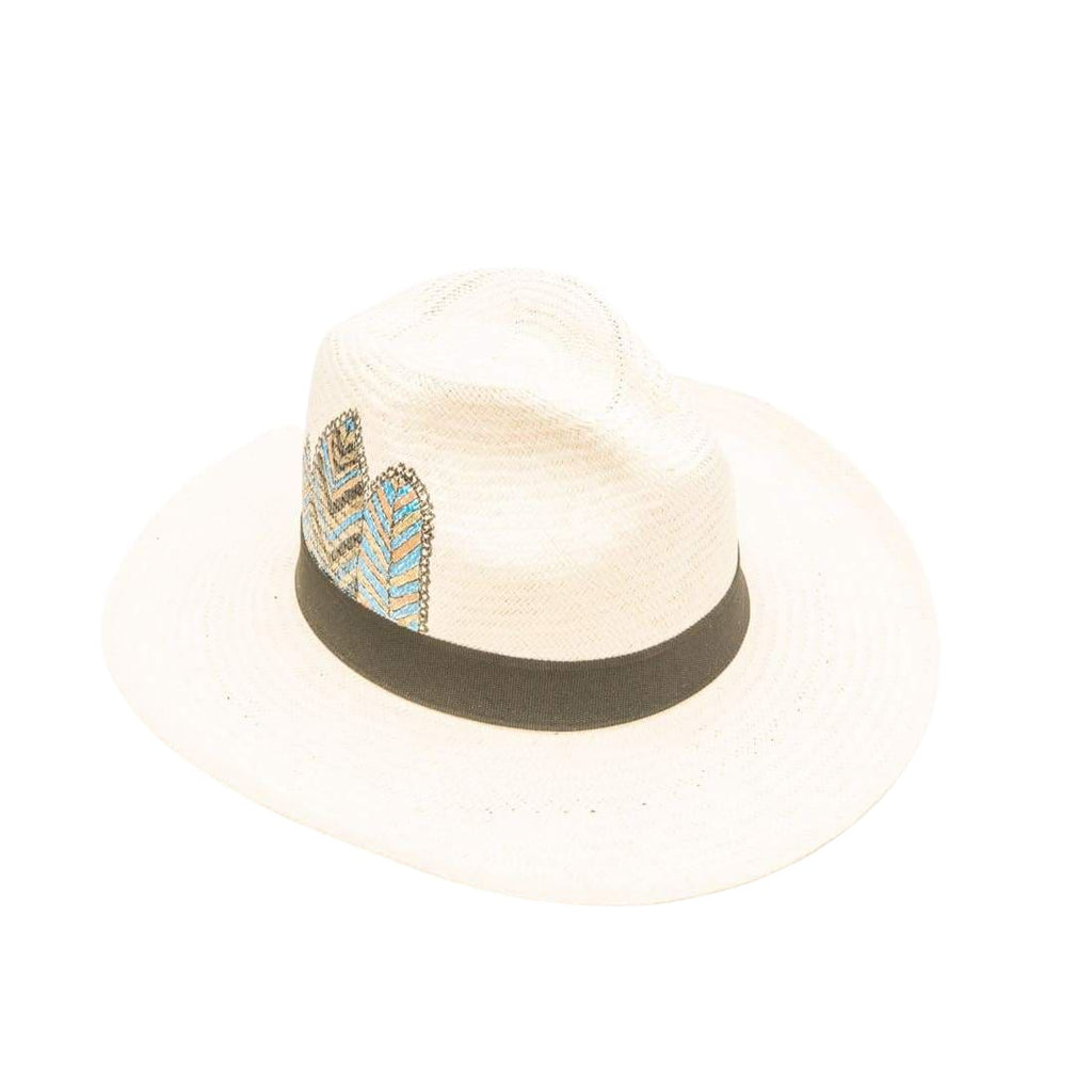 Isla+mar Tribal Feather: Straw Hat - HATS