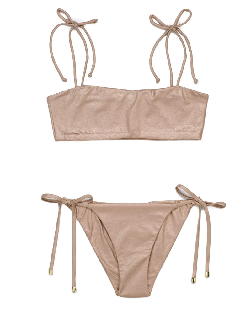 Luna Bralette - Rose Gold