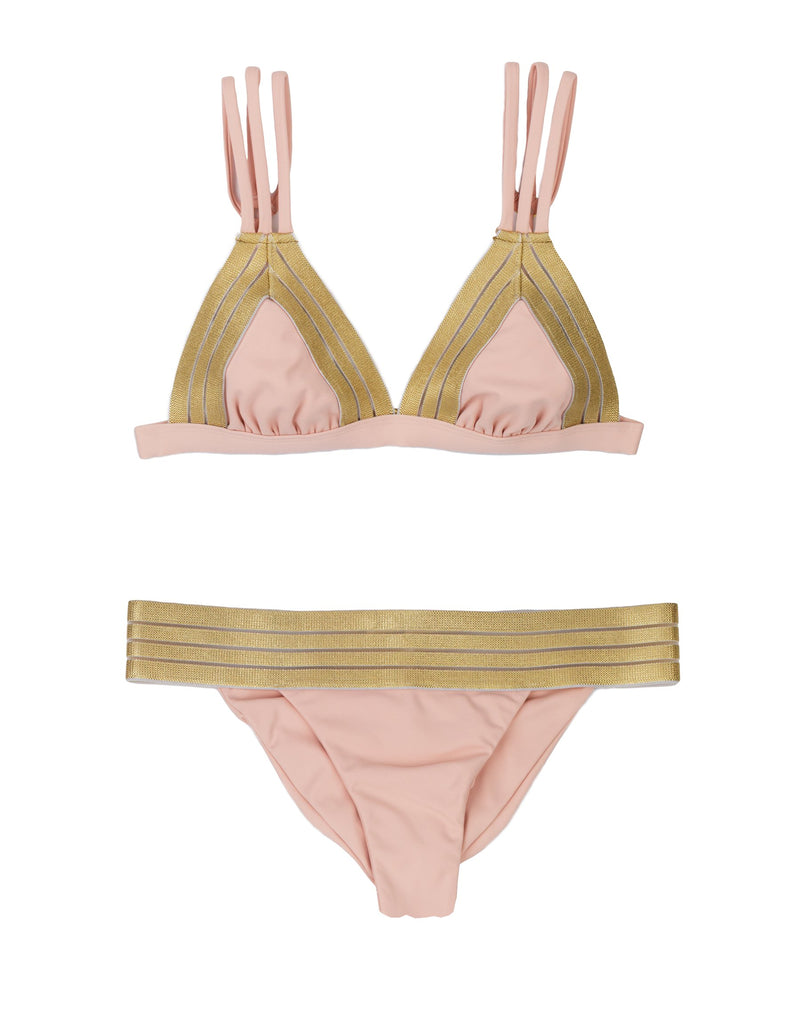 Sheer Addiction Triangle Top - Blush