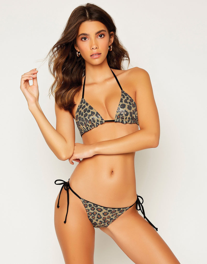 Shiloh Triangle Top - Leopard