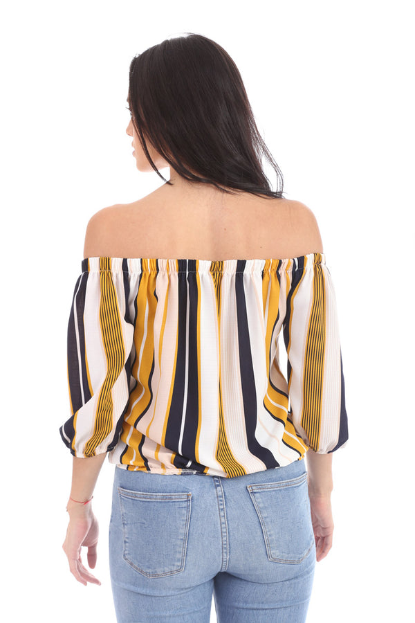 Blusa Off Shoulders rayas