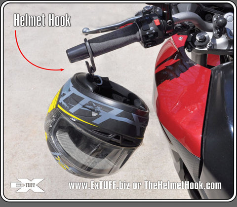 The Helmet Hook, your best option to avoid dropping your Helmet