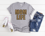 "Mom Life Leopard Letters | Ready to Press Screen Print Transfer 11"" X 8"" - Swell Vinyl"