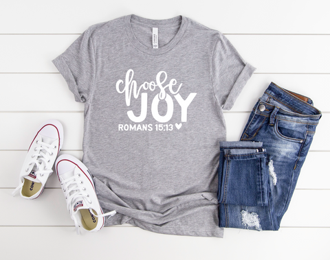 "Choose Joy Romans 15:13 | Ready to Press Screen Print Transfer 10.5"" X 8"" - Swell Transfers"