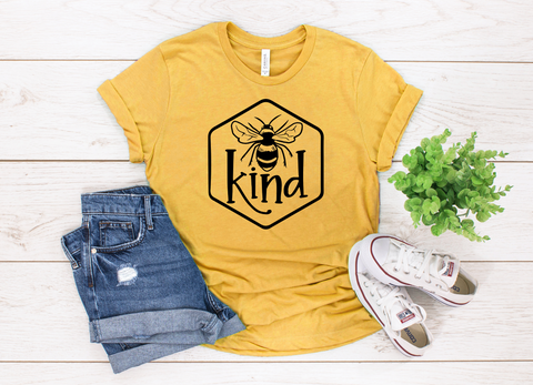 "Bee Kind | Ready to Press Heat Transfer 9"" X 10"" - Swell Transfers"