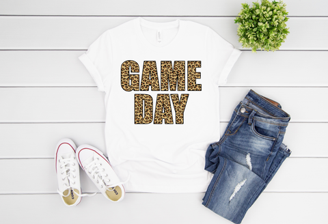 "Game Day Leopard Letters | Ready to Press Heat Transfer 11"" X 8"" - Swell Vinyl"