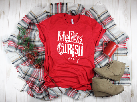 "Merry Christmas Christ mas | Ready to Press Heat Transfer 9"" X 10.5"" - Swell Transfers"