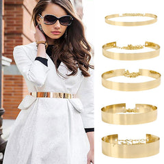 Fashion Vintage Belt Sequined Metal Belt For Women Dress Belt Wild Gold Dress Chain Belts